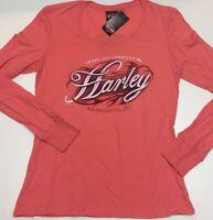 """Harley-Davidson Porcelain Rose / Peach Long Sleeve 2XL shirt """"Fast Freak"""""""