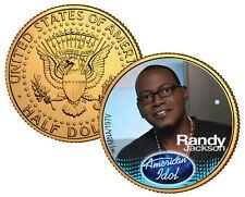 RANDY JACKSON ** American Idol 2009 ** JFK Half Dollar 24K Gold Plated U.S. Coin