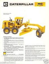 Equipment Brochure - Caterpillar - 16G - Motor Grader - c1981 (E2012)