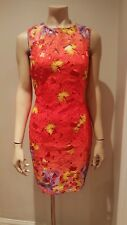 £70 GENUINE LIPSY Coral Cut out Lace Floral Evening Party DRESS *sale*