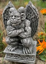 Massive Steinfigur Gargoyle Büste IV Torwächter Gartendeko Steinguss frostfest