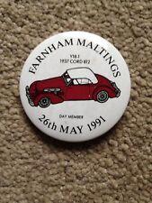 Farnham Maltings 26th May 1991 Collectors Fair Pin Badge