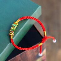 1pcs gifts Wholesale of Chinese style red rope weaving girl boy lucky bracelets