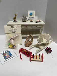 Vintage Nursery Items Most Artisan Toys Rocking Horse Dollhouse Miniature 1:12