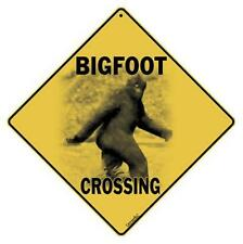 Bigfoot Crossing Sign NEW 12X12 Metal Sasquatch