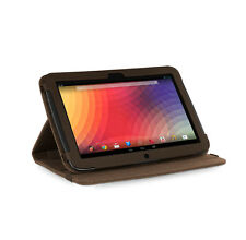 Google Nexus 10 Tablet Cocoa Brown Natural Hemp Version Stand Cover Case