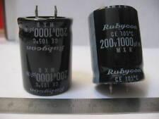 Lot x10 Condensateur Radial 1000µF 1000uF 1000MF 10V 105°C Rubycon