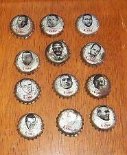 coke cola pop caps  football players lot # 5
