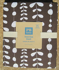 POTTERY BARN ~VIVID VINE DUVET  ~ BROWN COFFEE  ~ TWIN ~ BEDDING ~ PBTEEN