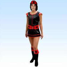 Schwarzes PVC Kostüm Krankenschwester Größe XS-S Nurse Krankenschwesterkostüm
