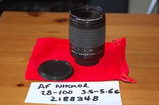 Nikon AF-G Nikkor 28-100mm f3.5-5.6 Zoom Lens - with Caps, Skylight Filter - VGC