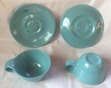 Russel Wright Home Decorators, Newark, NY Melmac 2 Cups & 2 Saucers