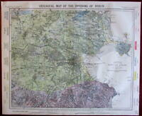 Dublin Ireland environs Geology Geological 1883 Lett's SDUK city plan map