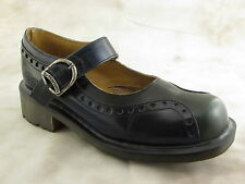 Dr. Martens Mary Jane Women Buckle Strap Blue Green 8307 UK 5 US 7 Made in UK