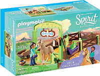 PLAYMOBIL Spirit Riding Free PRU & Chica Linda with Horse Stall, Multicolor