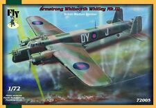 ARMSTRONG WHITHWORTH WHITLEY MK.III, BRITISH MEDIUM BOMBER,FLY 72005,SCALE 1/72