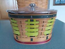 Longaberger Collector's Club Pine Forest Basket with lid & protector NEW