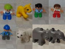 LEGO DUPLO Figuren Tiere Menschen - Kinder, Katze, Eisbär, Elefant und Löwe