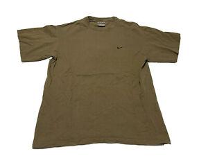 Vintage Nike Side Swoosh Black T-Shirt Size M Olive Green Vtg