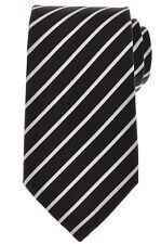 $ALE Ermenegildo Zegna Tie Silk Cotton 58 1/2 x 3 3/8 Gray Stripe 10TI0173 $205