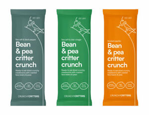 Crunchy Critters edible insects assorted flavours Bean & pea critter crunch x 3
