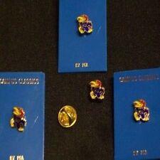KU Jayhawks Lapel pins & Hat Pins or Tie Tacs X4