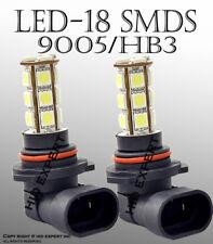 9005 HB3 18 SMD White LED Headlight High Beam / Day time running Light Bulbs J10