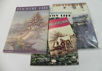 COUNTRY LIFE MAGAZINE -(LOT OF 3) FEB 1939, JUL 1939, DEC 1940- *GOOD CONDITION*