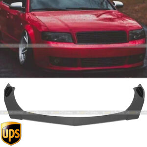 Glossy Black For AUDI A4 A5 A6 A7 S4 S5 Front Bumper Lip Spoiler Lower Splitters