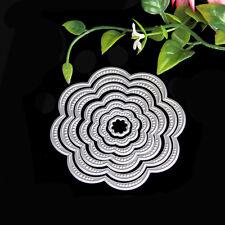 DIY Round Flower Metal Cutting Dies Stencils Scrapbooking Album Paper Card Craft
