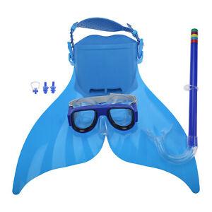 Adjustable Mermaid Swim Fin, Swimming Training Fin with Snorkel Set