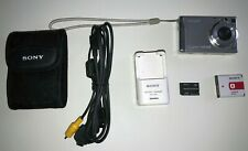 Sony Cyber-shot DSC-W200 12.1MP Digital Camera - Silver