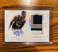DAVID ROBINSON ON CARD AUTO 3 COLORED PATCH #10/25 RARE!! FLAWLESS!
