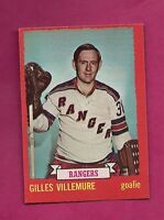 1973-74 OPC # 119 RANGERS GILLES VILLEMURE  GOALIE EX-MT CARD (INV#5888)