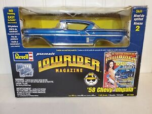 Revell 1958 Chevy Impala Lowrider Magazine 1:25 Scale Diecast Model Car Kit