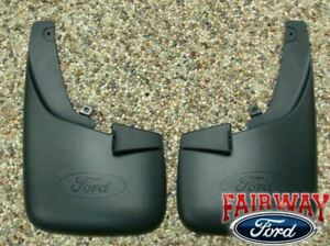 11 - 16 Super Duty F250 F350 OEM Ford Molded Splash Guards Front w/ Lips 2pc