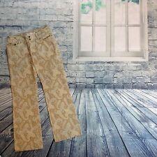 Tommy Hilfiger Jeans Blue Brown Retro Paisley 5 Pocket Size 4 Flared Leg Jeans