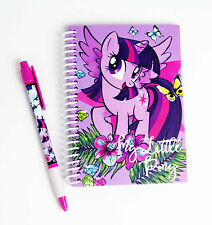 HASBRO MY LITTLE PONY A6 SPIRAL NOTEBOOK NOTEPAD PEN LICENSED GIRLS STATIONERY