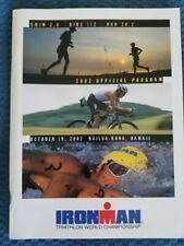 Official Program Of 2002 Ironman Kona Championship Triathlon