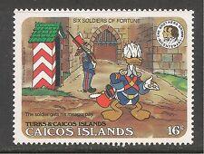 Caicos #79 (C10) VF MINT NH - 1985 16c Mark Twain, Tom Sawyer & Donald Duck