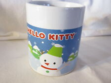 Hello Kitty Mug - 2008 Snowmen Winter Scene - Sanrio Company