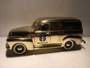 SpecCast New Holland 1952 Chevrolet Panel Delivery Truck Gold Plated 1:25 Bank