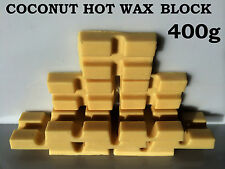COCONUT HOT WAX BLOCK FOR WAX WARMER HEATER WAXING STRIP POT WAX BLOCK 400g
