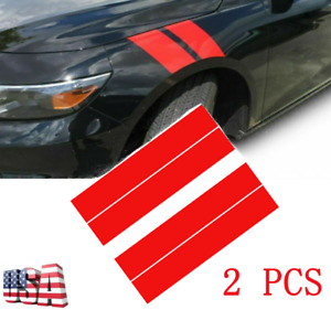 2X 56*10CM Red Racing Car Hood Stripe Decal Auto Vinyl Bonnet Sticker Universal