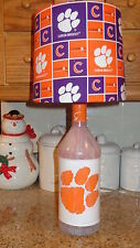 Sports Table/Desk Lamp (Hand-Painted Clemson Univ. Logo & Team Shade)
