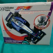 THUNDER TIGER F.1 1/10 scale 2 WD NITRO POWERED RC RACING CAR LIKE NEW