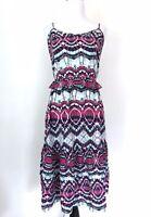 Mossimo Women's Sun Dress Medium M Sleeveless Spaghetti Straps Ruffles Boho