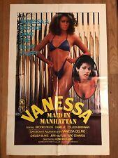 Vanessa Maid In Manhattan Original X Movie Poster 27X41 Vanessa Del Rio 1984