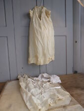 Couple antique baby christening gowns + larger bonnet