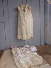 Couple antique baby christening gowns + larger bonnet